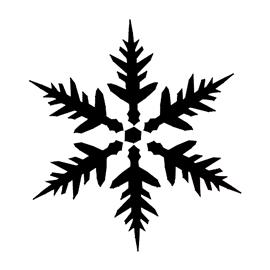 Snowflake Stencil 16 | Free Stencil Gallery
