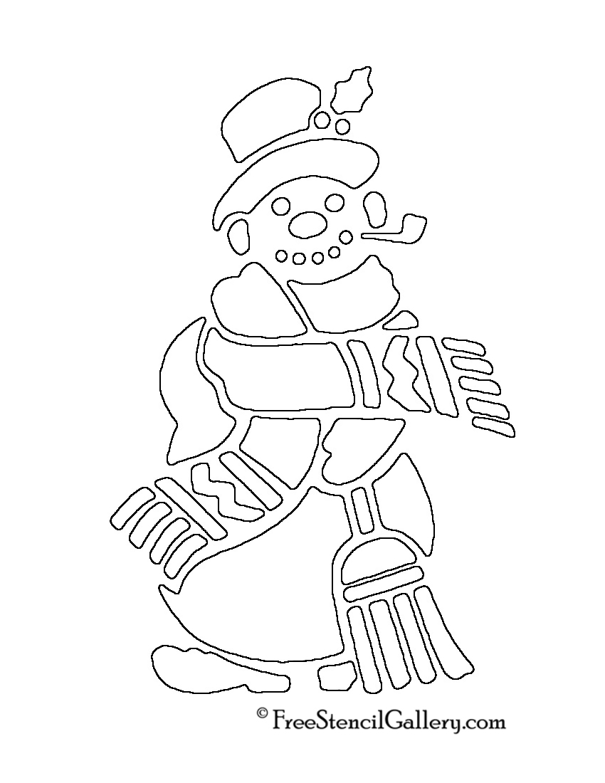 Snowman Stencil 01