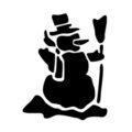 Snowman Stencil 02