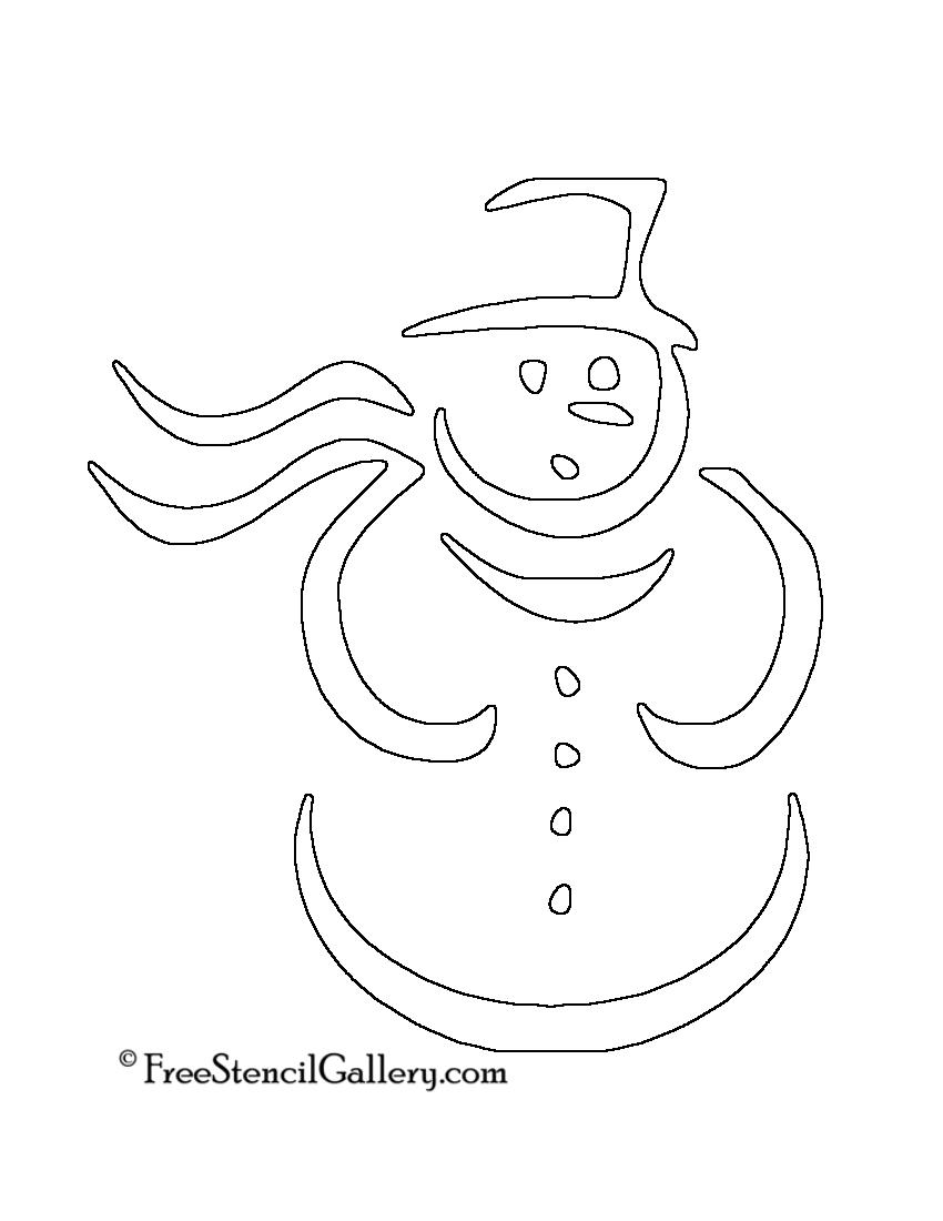 Snowman Stencil 04