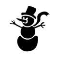 Snowman Stencil 05
