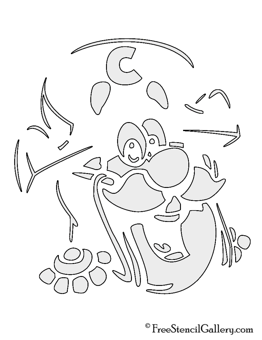 Captain Crunch Stencil