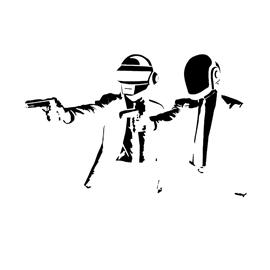 Daft Punk Stencil