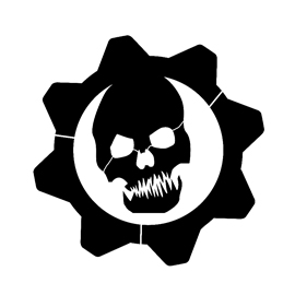 Gears of War - Crimson Omen Logo Stencil