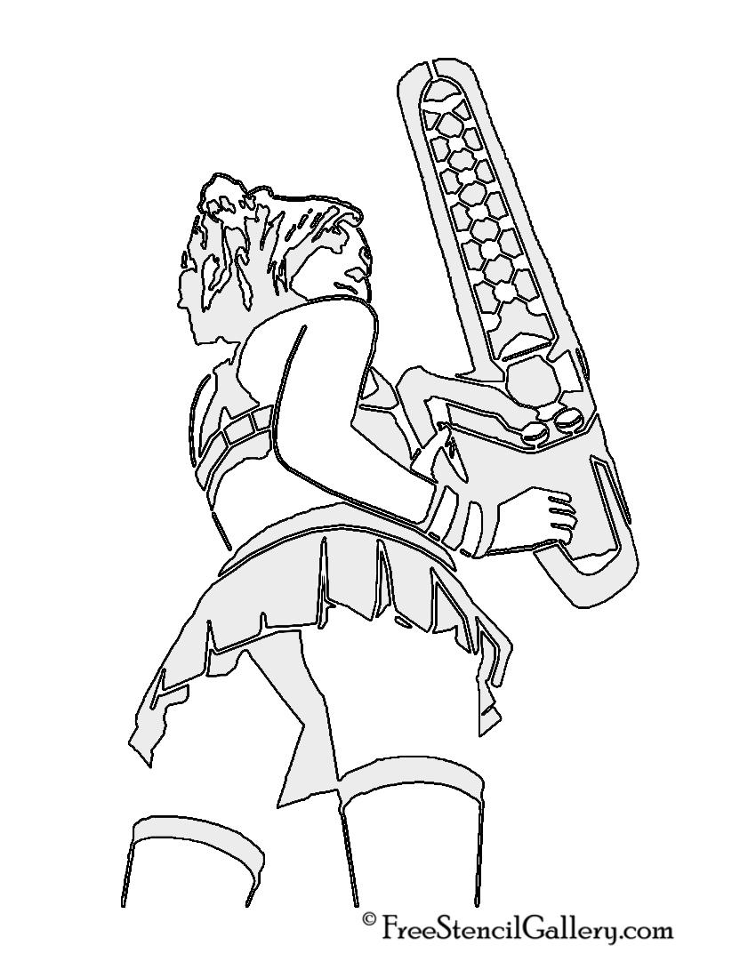 Lollipop Chainsaw - Juliet Starling Stencil