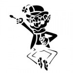 Lucky Charms Leprechaun Stencil