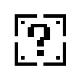 Mario Brothers - Coin Block Stencil