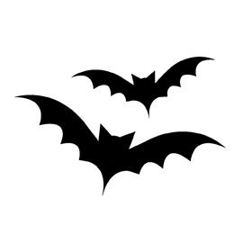 Bat Silhouette Stencil 02