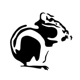 Chipmunk Stencil