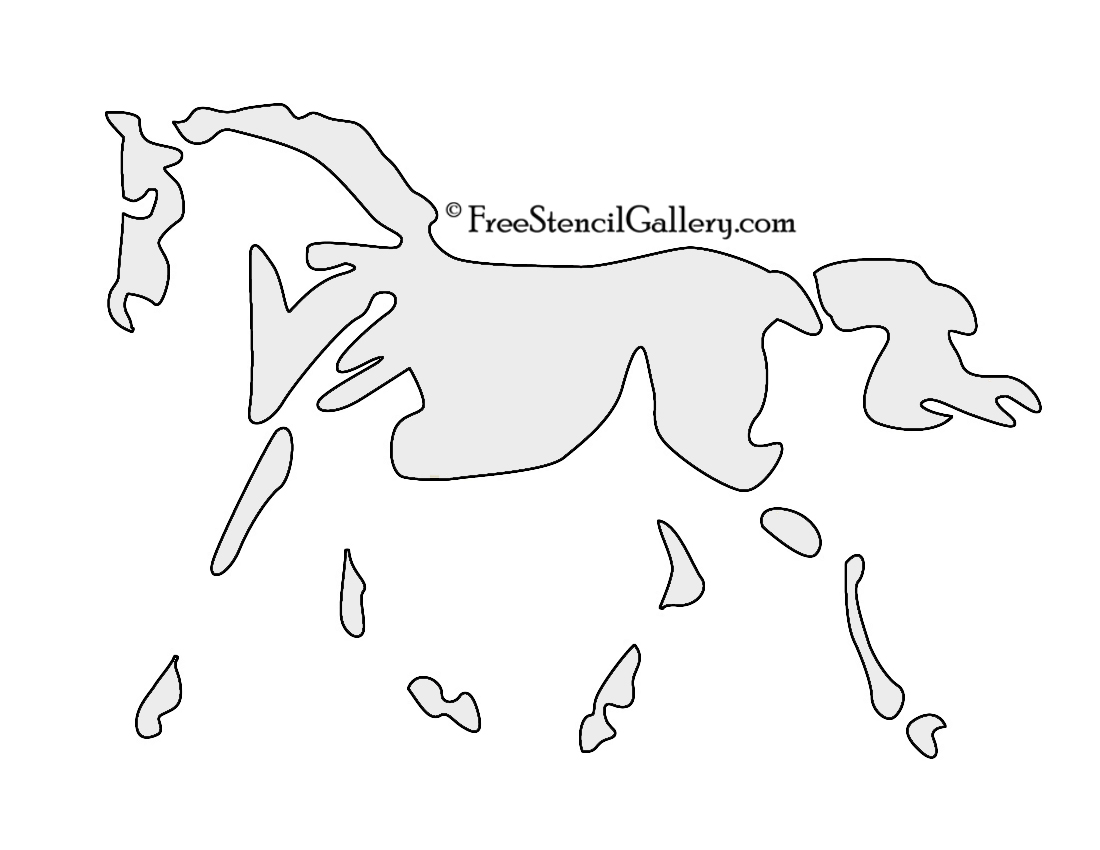 Horse Templates And Patterns Pictures To Pin On Pinterest