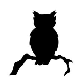 Owl Silhouette Stencil