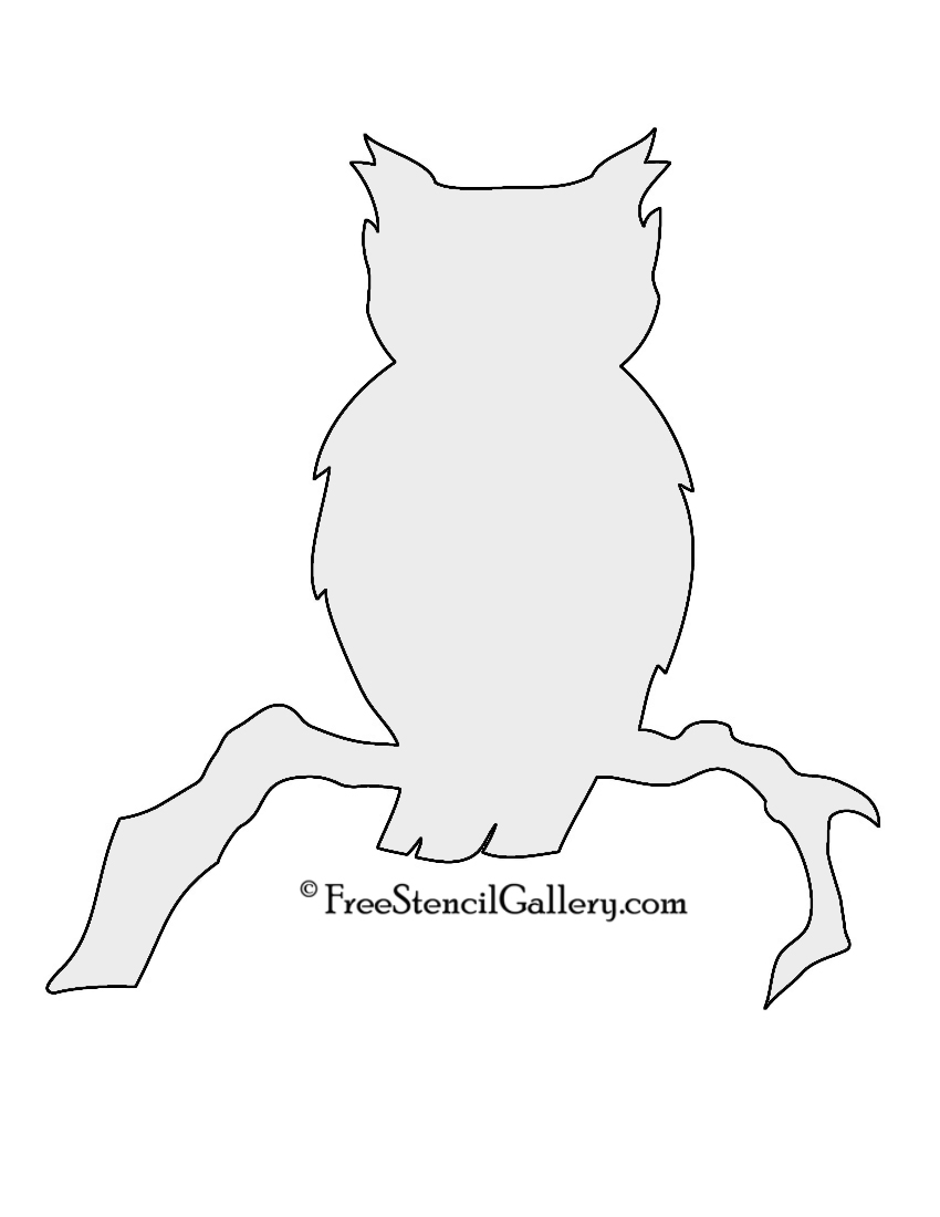 Printable owl stencils - photo#11