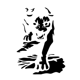 Panther Stencil