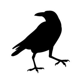 raven silhouette stencil free stencil gallery