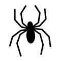 Spider Silhouette Stencil 01