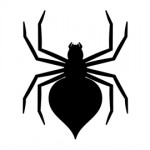 Spider Silhouette Stencil 02