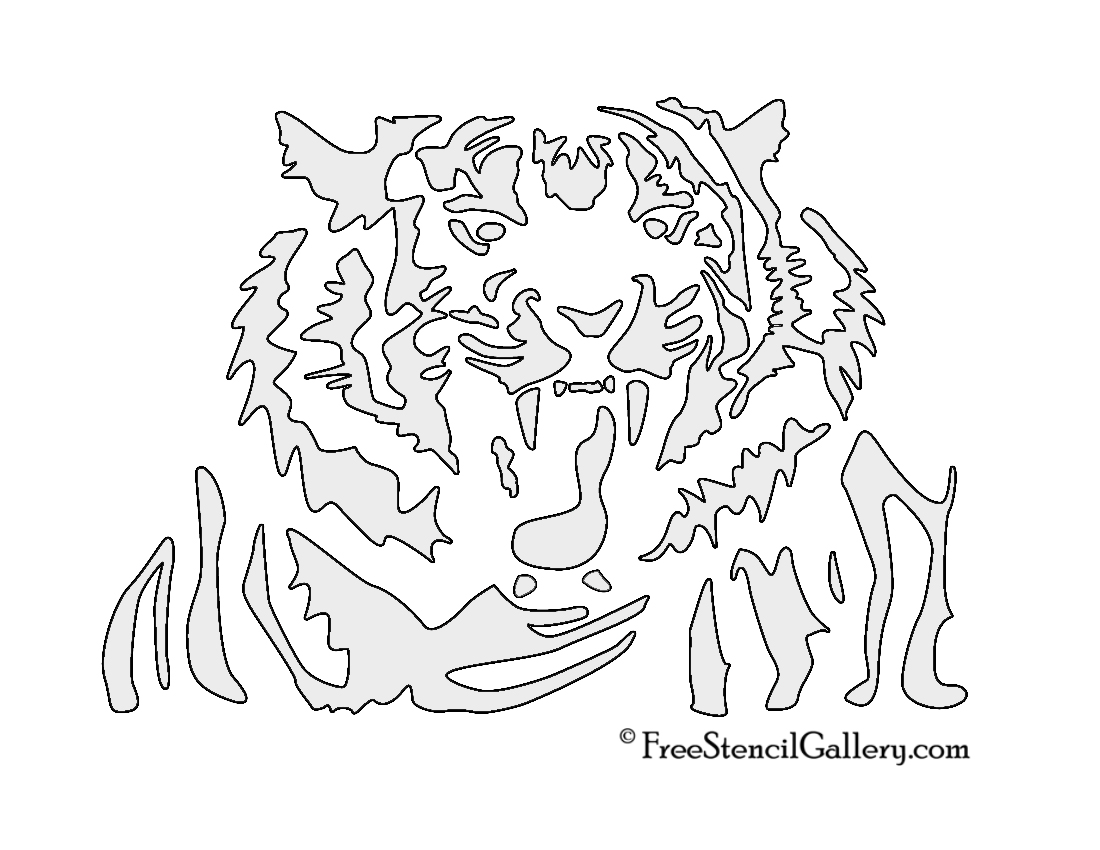 Tiger Stencil 03 | Free Stencil Gallery