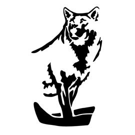 Wolf Stencil 01 Free Stencil Gallery