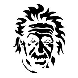 Albert Einstein Stencil