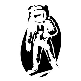 astronaut stencil template - photo #11