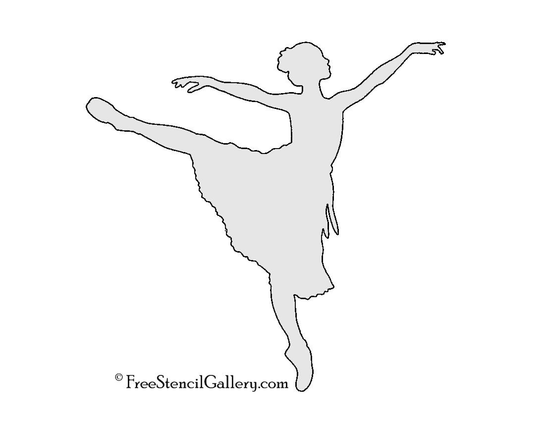 ballerina silhouette stencil free stencil gallery