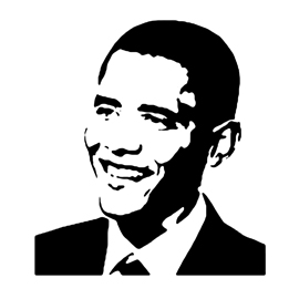 Barack Obama Stencil