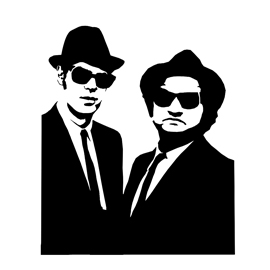 Blues Brothers Stencil