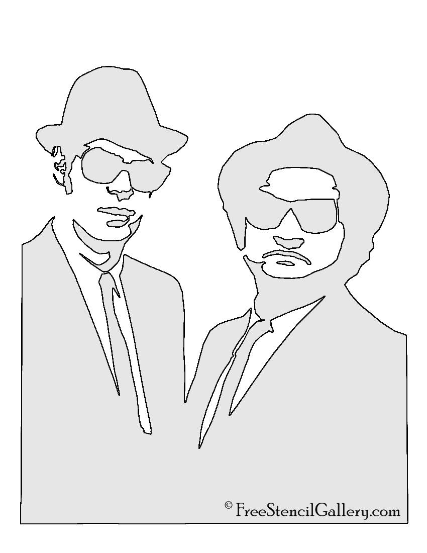 Blues Brothers Stencil