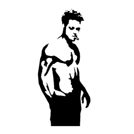 Fight Club - Tyler Durden Stencil