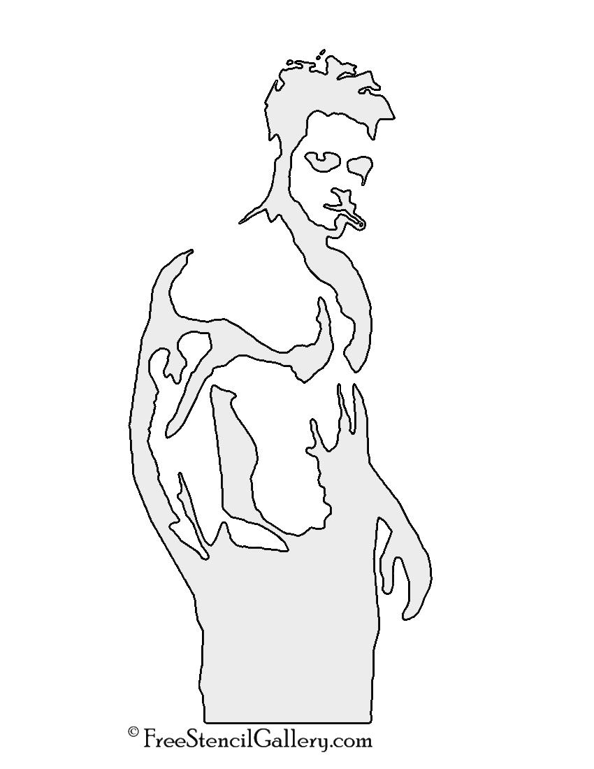 Fight Club - Tyler Durden Stencil