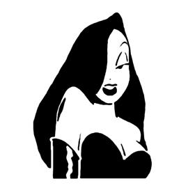Jessica Rabbit Stencil