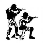 Soldiers Stencil
