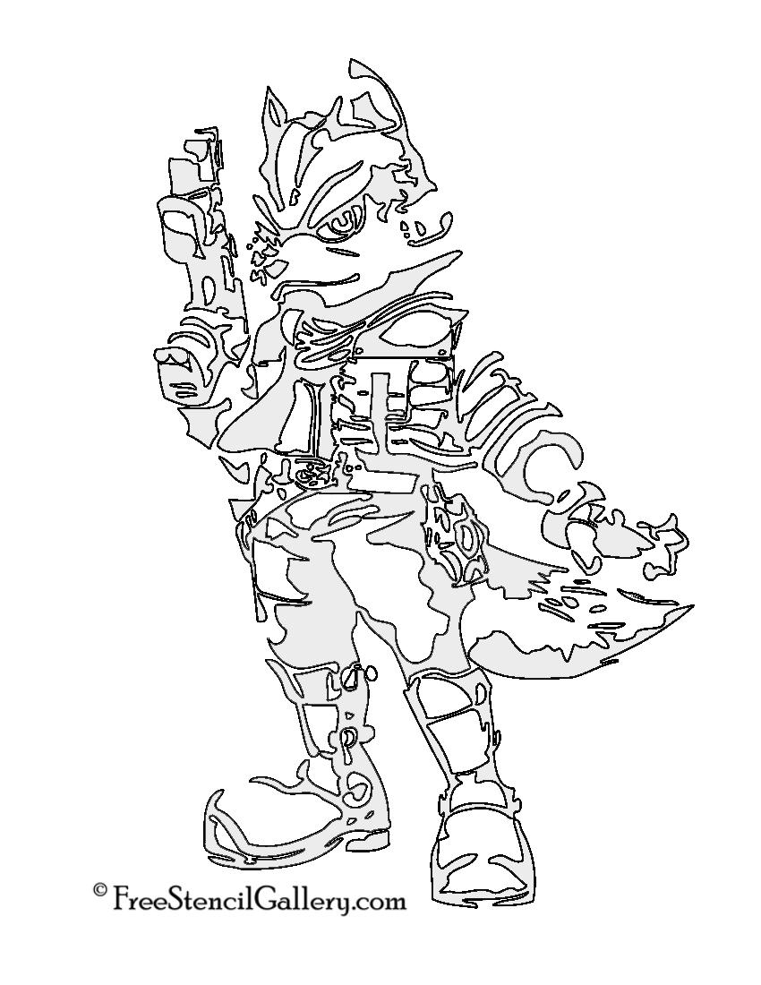 Star Fox - Fox McCloud Stencil