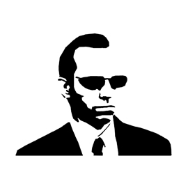 The Matrix - Agent Smith Stencil
