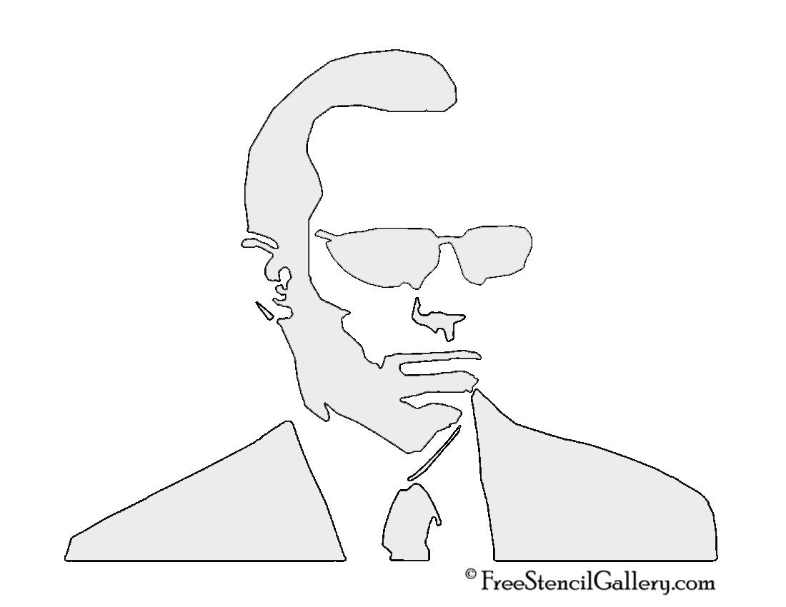 The Matrix - Agent Smith Stencil