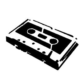 Cassette Tape Stencil