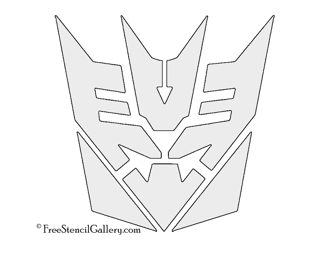 dollar sign stencil gallery part  tranformers decepticon symbol stencil