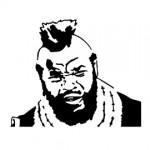 A-Team - B.A. Baracus Stencil 2
