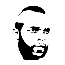 A-Team - B.A. Baracus Stencil