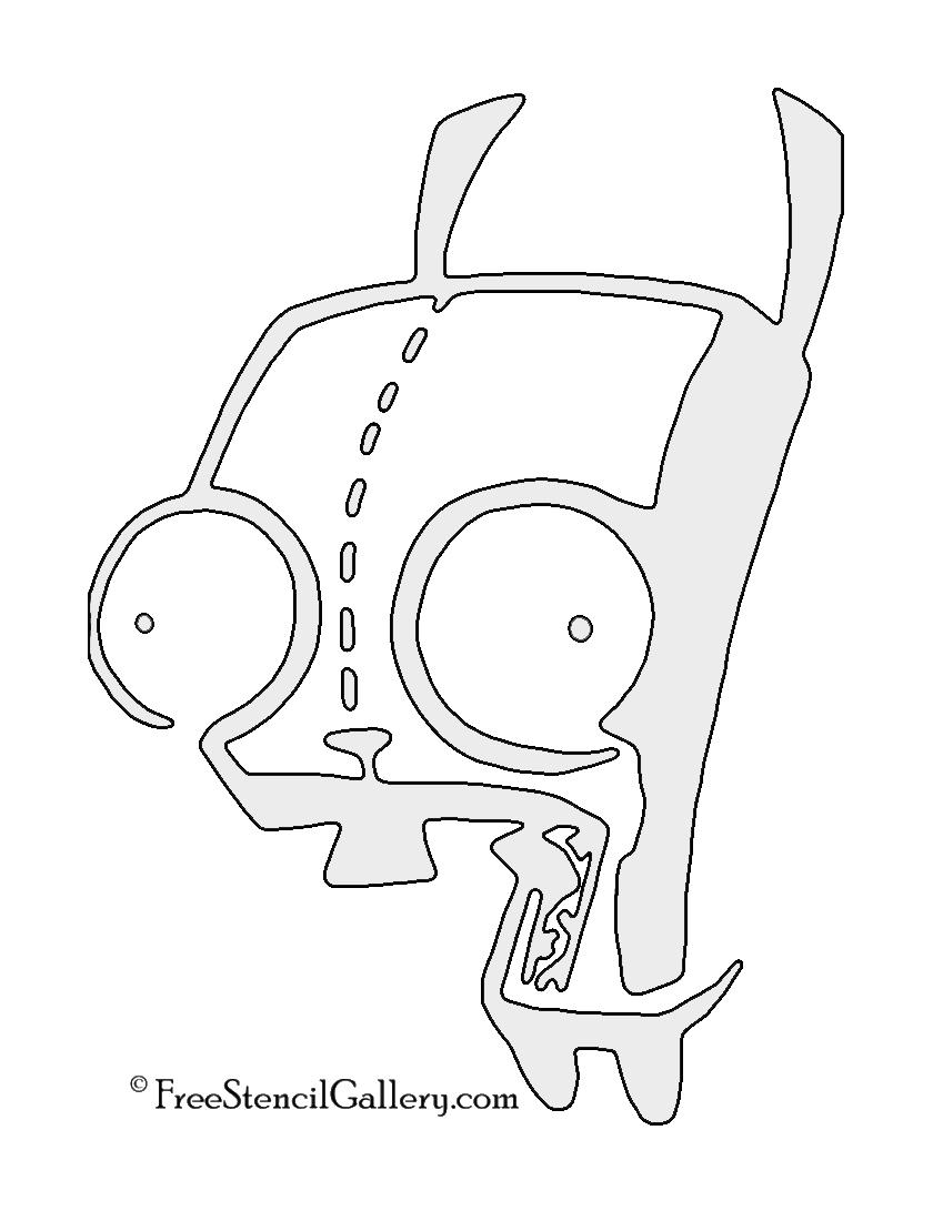 Invader Zim - GIR Stencil