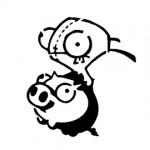 Invader Zim - Gir on a Pig