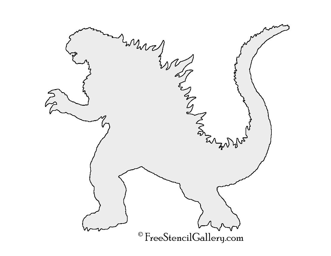 Godzilla Stencil 02