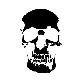 Human Skull Stencil