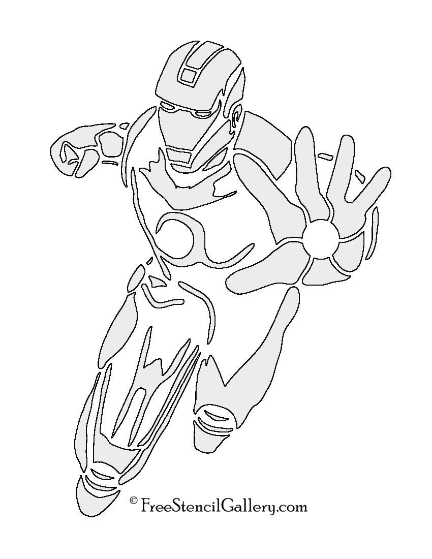 Iron Man Stencil