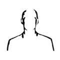 Man Silhouette Stencil