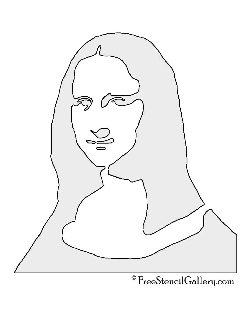 Mona Lisa Stencil