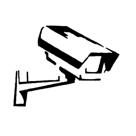 Security Camera Stencil