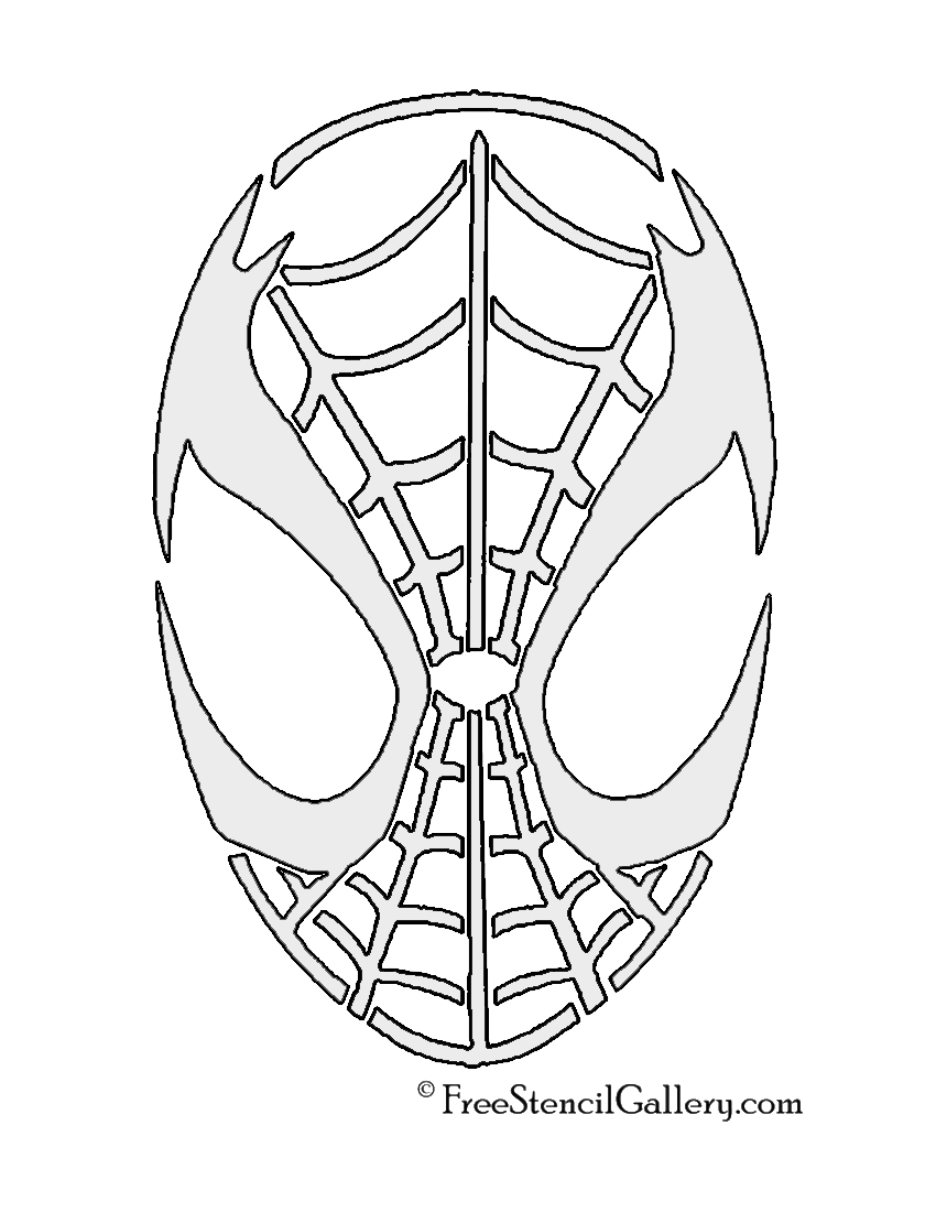 Spiderman Mask Stencil | Free Stencil Gallery