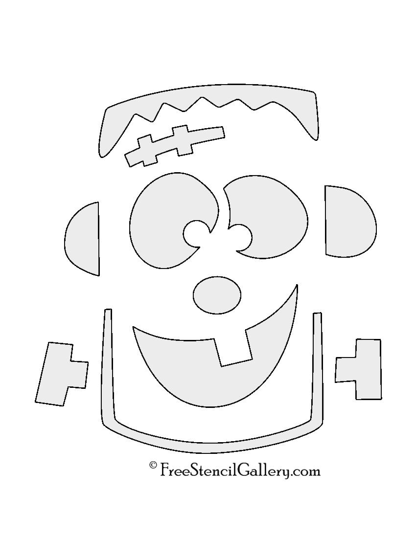 Frankenstein monster stencil free stencil gallery for Frankenstein pumpkin templates
