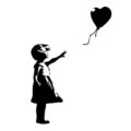 Banksy-Balloon Girl Stencil